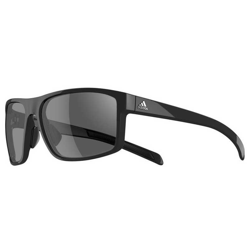 A423-6050: Adidas   Men's Whipstart Sunglasses - Black Shiny